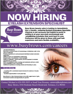 busy brows salon careers